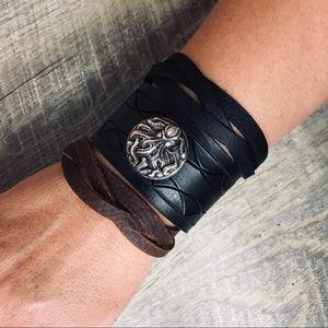 Kraken Leather Cuff
